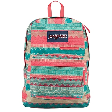 Jansport Digibreak Backpack, Malt Tan Boho Stripe (T50F04G) | Staples®