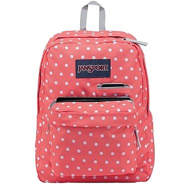 Jansport Digibreak Backpack, Coral Sparkle White Dots (T50F0NR ...