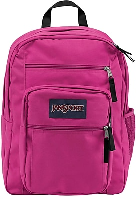 Jansport Big Student Backpack, Cyber Pink