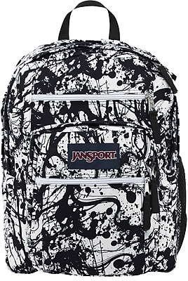 Jansport Big Student Backpack, Black Paintball