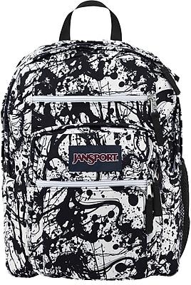 Jansport Big Student Backpack, Black Paintball (TDN70JR)