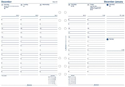 Filofax® 2017 Weekly Refill, A5 Size, 8-1/4