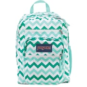 Jansport Big Student Backpack, Aqua Chevron (TDN70C6)