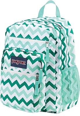 Jansport Big Student Backpack Aqua Chevron Tdn70c6