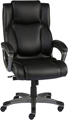 Staples Washburn Bonded Leather Office Chair Black Staples