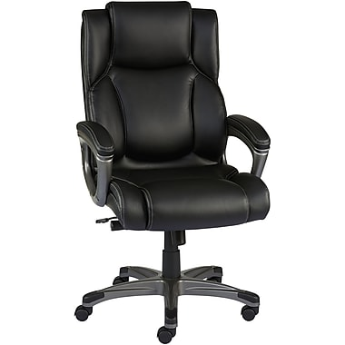 staples washburn bonded leather office chair, black | staples®