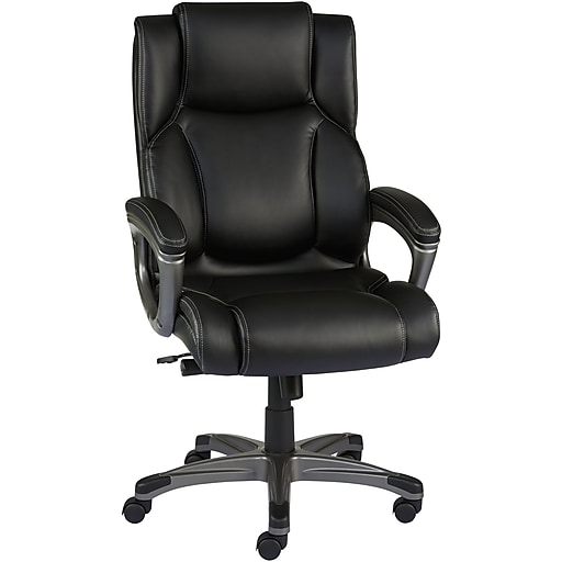 staples washburn bonded leather office chair black staples