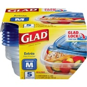 Glad® Food Storage Containers, Soup and Salad, 24 Ounce, 5 Count
