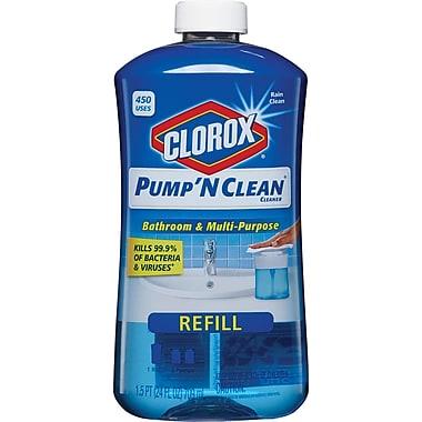 Clorox® Pump 'N Clean™ Bathroom & Multi-Purpose Cleaner Refill, Rain Clean Scent, 24 oz.