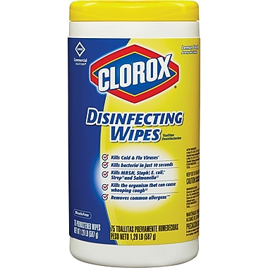 Clorox® Disinfecting Wipes, 75 Wipes/Tub, Assorted Scents