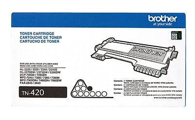 Brother Genuine TN420 Black Original Laser Toner Cartridge