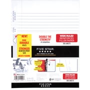 "Mead Five Star Reinforced Wide Ruled Filler Paper, 10-1/2"" x 8"", 100 Sheets (15000)"
