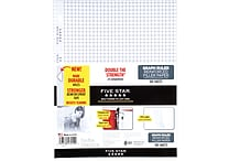 Mead Five Star Reinforced Graph Ruled Filler Paper, 11 x 8 1/2', 100 Sheets (17012)