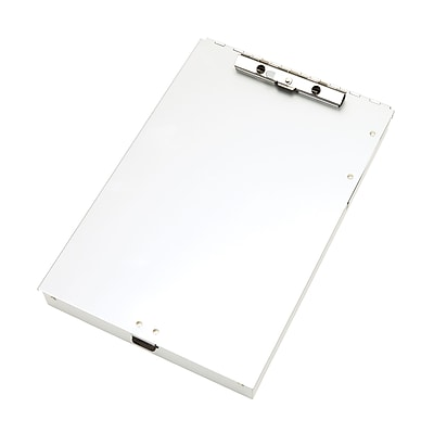 Staples® Aluminum Document Case with Calculator, Letter Size, Silver, 9