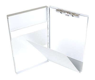 Staples Aluminum Side Loading Clipboard with Storage, Legal Size, Silver