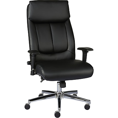 staples sevit bonded leather office chair, black | staples®