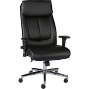 Staples Sevit Bonded Leather Office Chair, Black