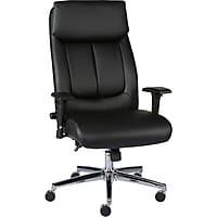 Staples Sevit Bonded Leather Office Chair (Black)
