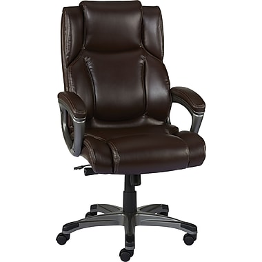 Leather Computer Chairs staples washburn bonded leather office chair, brown | staples®