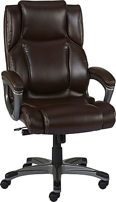 Staples Washburn Bonded Leather Office Chair, Brown