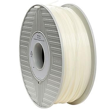 Verbatim 3mm PLA 3D Printer Filament Natural Transparent 1kg 2.2LBS Reel (55265)