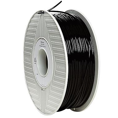 Verbatim® 3 mm PLA 3D Printer Filament, Black, 1kg, 2.2 lbs. (55259)