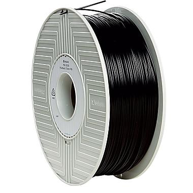 Verbatim 1.75mm PLA 3D Printer Filament Black 1KG 2.2LBS Reel (55250)