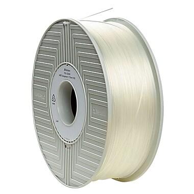 Verbatim 1.75mm ABS 3D Printer Filament Clear Transparent 1KG 2.2LBS (55005)
