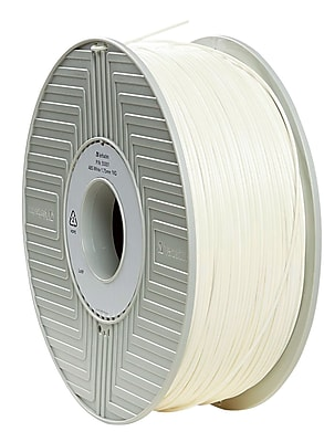 Verbatim 1.75mm ABS 3D Printer Filament White 1KG 2.2LBS (55001)