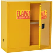 """Sandusky 44""""H Safety Cabinets For Flammable Materials with 30-Gallon Capacity, Yellow (SC300F)"""