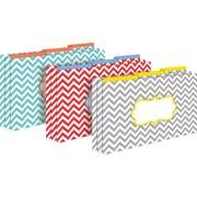 Barker Creek Beautiful Chevron Decorative Legal-Sized File Folders, Multi-Design, 3-tab, 9 per package/3 designs (BC2508)