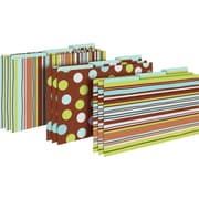 Barker Creek Ribbon by the Yard Decorative Legal-Sized File Folders, Multi-design, 3-tab, 9 per package/3 designs (BC2509)