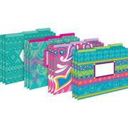 Barker Creek Bohemian Decorative Letter Sized File Folders, Multi Design, 3 tab, 12 per package/4 designs... by