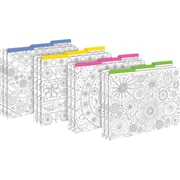 Barker Creek Color Me! In My Garden Decorative Letter-Sized File Folders, Multi-Design, 3-tab, 12 per package/4 designs (BC1343)