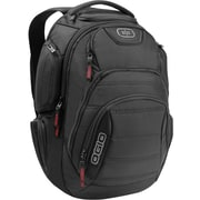 "OGIO 17"" Ballistic Polyester Renegade Backpack, Black, 19.5""H x 14""W x 10.5""D"