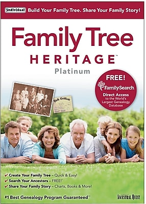 Individual Software Family Tree Heritage Platinum 9 for Windows (1 User) [Download]