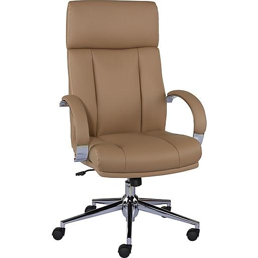 the best attitude 42d27 c093d Staples Monetta Luxura Home Office Chair, Tan