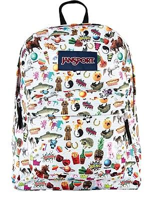 Jansport Superbreak Backpack, Multi Stickers