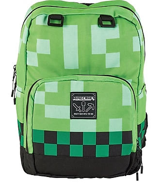 Minecraft Backpack, Creeper Green (MNCR1002SGRN)