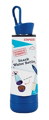 Designed by Students Snack Water Bottle, Clear/Blue (29687)