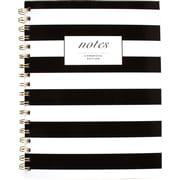 "Cambridge® Fashion Hardcover Business Notebook, 80 Sheets, 9-1/2"" x 7"", Black/White Stripe"