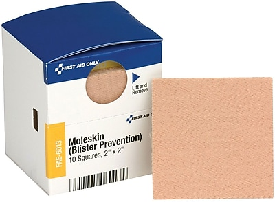 "First Aid Only® SmartCompliance® Refill Moleskin and Blister Protection, 2"" x 2"" (FAE-6013)"