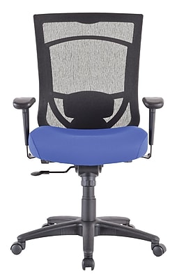 Tempur-Pedic TP7000 Mesh Computer and Desk Office Chair, Fixed Arms, Blue (TP7000 YATCH BL)