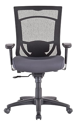 Tempur-Pedic TP7000 Mesh Computer and Desk Office Chair, Fixed Arms, Agate Gray (TP7000-AGATE)