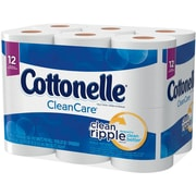 Kleenex® Cottonelle® Clean Care Toilet Paper, 1-Ply, 150 Sheets/Roll, 48 Rolls/Case (12456CT)