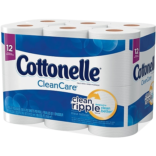 Kleenex® Cottonelle® 1-Ply Ultra Soft Unscented Toilet Paper, White ...