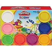Play-Doh Starter Pack Modeling Compound, Rainbow Colors, 8/Pack (SL8347)