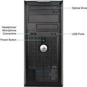 Refurbished Dell 755 MT C2D-2.33GHz, 4GB Memory, 2TB Hard Drive, DVDRW Drive with Windows 10 Professional 64bit