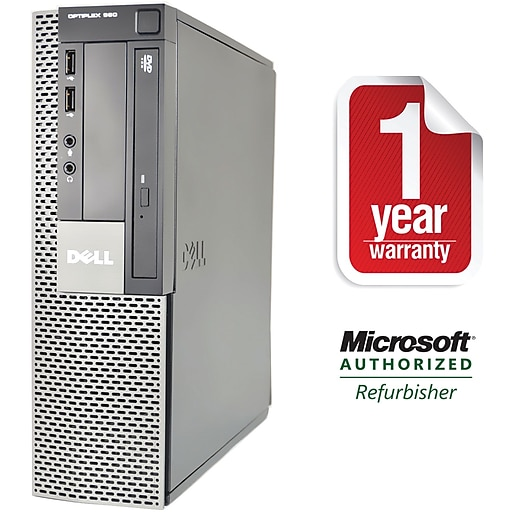 Dell 980 Refurbished Small Form Factor Intel Corei7-860 2.8Ghz,Ghz, 4GB Memory, 500GB Hard Drive DVDRW Win 10 Pro 64bit