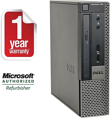 Refurbished DELL 790-SFF, Desktop Core i3-2100 3.1Ghz, 4GB Ram, 250GB HDD, NO_ODD, Windows 10 Home 64bit